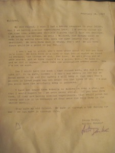 Letter from Arthur to my great-grandfather, 1927