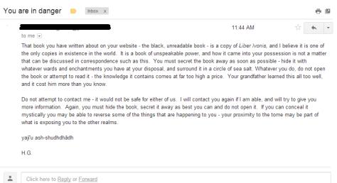 A strange email